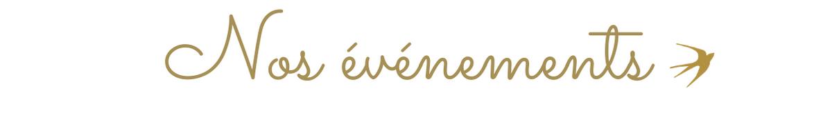 Nos événements - Maison Jeanne