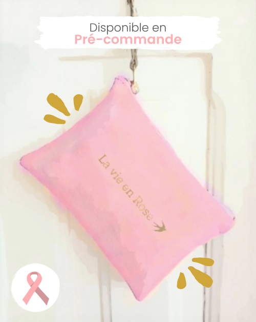 Trousse Solidaire Madeleine Rose Chamallow - Octobre Rose Maison Jeanne